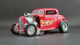 Ford  - Hot Rod *Flamethrower* 1932 red/flames - 1:18 - Acme Diecast - 1805016 - acme1805016 | The Diecast Company