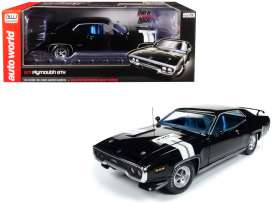 Plymouth  - GTX 1971 black/white - 1:18 - Auto World - 1133 - AMM1133 | The Diecast Company