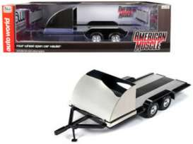Trailer  - 2019 black/chrome - 1:18 - Auto World - 1166 - AMM1166 | The Diecast Company