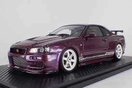 Nissan  - GT-R purple - 1:18 - Ignition - IG1474 - IG1474 | The Diecast Company