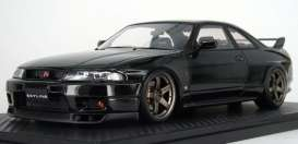 Nissan  - GT-R black - 1:18 - Ignition - IG1314 - IG1314 | The Diecast Company