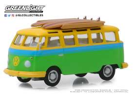 Volkswagen  - Samba 1964 green/yellow - 1:64 - GreenLight - 29960B - gl29960B | The Diecast Company