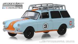 Volkswagen  - Type 3  1965 blue/orange - 1:64 - GreenLight - 29960C - gl29960C | The Diecast Company