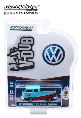 Volkswagen  - Type 2 1976 blue/red - 1:64 - GreenLight - 29960E - gl29960E | The Diecast Company
