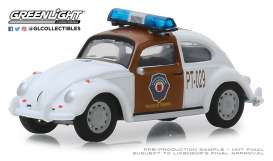 Volkswagen  - Beetle brown/white - 1:64 - GreenLight - 29960F - gl29960F | The Diecast Company