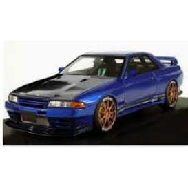 Nissan  - GT-R blue - 1:18 - Ignition - IG1522 - IG1522 | The Diecast Company