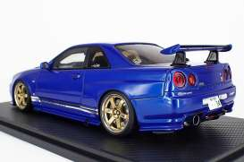 Nissan  - GT-R blue - 1:18 - Ignition - IG1472 - IG1472 | The Diecast Company