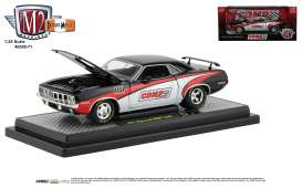 Plymouth  - Hemi Cuda 1971 black/red - 1:24 - M2 Machines - 40300-71B - M2-40300-71B | The Diecast Company