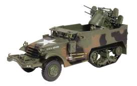 Military Vehicles  - Multiple Gun Motor green - 1:43 - Magazine Models - MILBL03 - magMILBL03 | The Diecast Company