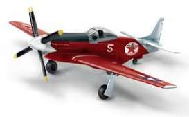 North American Aviation  - P-51D *Texaco* red/black/white - 1:44 - Auto World - CP7490 - AWCP7490 | The Diecast Company