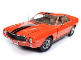 AMC  - AMX Hardtop 1969 orange/black - 1:18 - Auto World - AMM1170 - AMM1170 | The Diecast Company