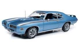 Pontiac  - GTO Judge 1969 blue - 1:18 - Auto World - AMM1171 - AMM1171 | The Diecast Company