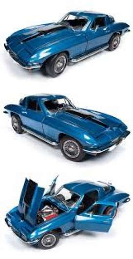 Chevrolet  - Corvette Coupé 1969 blue - 1:18 - Auto World - AMM1176 - AMM1176 | The Diecast Company