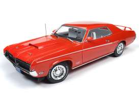 Mercury  - Cougar 1969 blue - 1:18 - Auto World - AMM1183 - AMM1183 | The Diecast Company