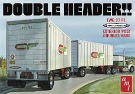 Trailer  - Tandem Van Trailer  - 1:25 - AMT - s1132 - amts1132 | The Diecast Company