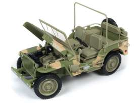 Jeep  - Willys army green - 1:18 - Auto World - ML005A - AWML005A | The Diecast Company