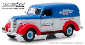 Chevrolet  - Panel Truck 1939 red/white/blue - 1:24 - GreenLight - 85041 - gl85041 | The Diecast Company