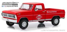 Ford  - F-100 1971 red - 1:24 - GreenLight - 85043 - gl85043 | The Diecast Company