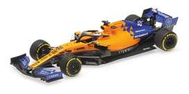 McLaren  - MCL34 2019 orange/blue - 1:43 - Minichamps - 537194355 - mc537194355 | The Diecast Company