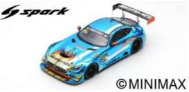 Mercedes Benz  - 2018 blue/white - 1:18 - Spark - 18AS007 - spa18AS007 | The Diecast Company