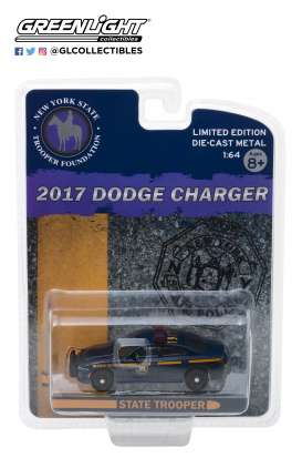 Dodge  - Charger 2017 blue/yellow - 1:64 - GreenLight - 51178 - gl51178 | The Diecast Company