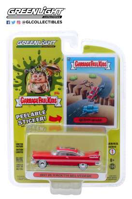 Plymouth  - Belvedere 1957 red - 1:64 - GreenLight - 54010A - gl54010A | The Diecast Company