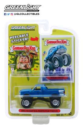 Monster Truck  - 1995 blue - 1:64 - GreenLight - 54010C - gl54010C | The Diecast Company