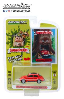 Volkswagen  - Beetle red - 1:64 - GreenLight - 54010D - gl54010D | The Diecast Company