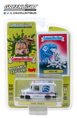non  - Mail Truck white/red/blue - 1:64 - GreenLight - 54010E - gl54010E | The Diecast Company