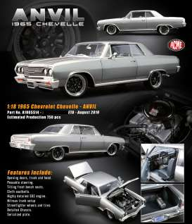 Chevrolet  - Chevelle *ANVIL* 1970 grey - 1:18 - Acme Diecast - 1805514 - acme1805514 | The Diecast Company