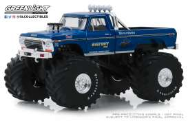 Ford  - F250 Monster Truck 1974 blue - 1:43 - GreenLight - 88011 - gl88011 | The Diecast Company