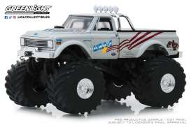 Chevrolet  - K-10 Monster Truck 1970 white - 1:43 - GreenLight - 88012 - gl88012 | The Diecast Company