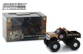 Chevrolet  - K-10 Monster Truck 1971 black/gold - 1:43 - GreenLight - 88013 - gl88013 | The Diecast Company