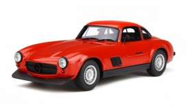 Mercedes Benz  - 300SL 1974 red - 1:18 - OttOmobile Miniatures - ot311 - otto311 | The Diecast Company