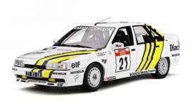 Renault  - 21 Turbo 1988 white/yellow - 1:18 - OttOmobile Miniatures - ot317 - otto317 | The Diecast Company