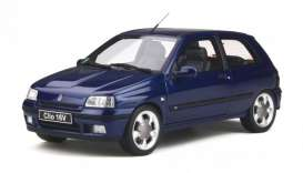 Renault  - Clio 1995 blue - 1:18 - OttOmobile Miniatures - 744 - otto744 | The Diecast Company