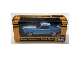 Shelby  - GT500 1967 blue/white - 1:43 - Shelby Collectibles - 14367bl - shelby14367bl | The Diecast Company