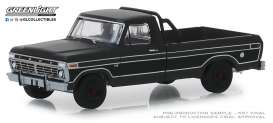 Ford  - F-100 1975 black - 1:64 - GreenLight - 27990D - gl27990D | The Diecast Company