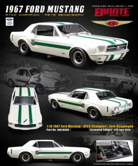 Ford  - Mustang *Peter Geoghegan* 1967 white/green - 1:18 - Acme Diecast - rar18006 - acmeRAR18006 | The Diecast Company