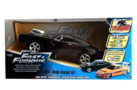 Dodge  - Charger F&F *Radio Control* 1970 black - 1:16 - Jada Toys - 97584 - jada97584 | The Diecast Company