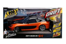 Mazda  - Rx-7 F&F *Radio Control* 1993 orange/black - 1:10 - Jada Toys - 99700 - jada99700 | The Diecast Company