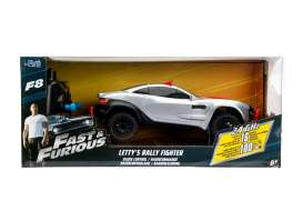 F&F Rally Fighter  - *Radio Control* 1970 silver/red - 1:24 - Jada Toys - 98311 - jada98311 | The Diecast Company