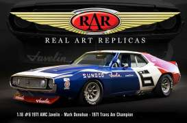 AMC  - Javelin #6 Mark Donahue 1971 red/white/blue - 1:18 - Acme Diecast - rar18005 - acmeRAR18005 | The Diecast Company