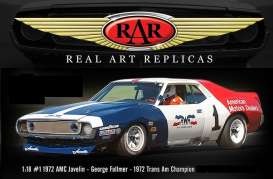 AMC  - Javelin #1 George Folmer 1971 red/white/blue - 1:18 - Acme Diecast - rar18004 - acmeRAR18004 | The Diecast Company