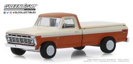 Ford  - F-100 1973 orange/white - 1:64 - GreenLight - 35140B - gl35140B | The Diecast Company