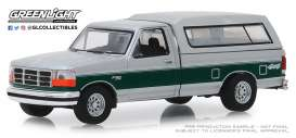 Ford  - F-150 XLT 1996 white/green - 1:64 - GreenLight - 35140E - gl35140E | The Diecast Company