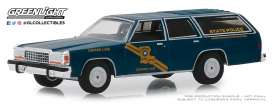 Ford  - LTD Crown Victoria 1987 blue - 1:64 - GreenLight - 42890B - gl42890B | The Diecast Company