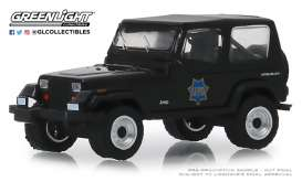 Jeep  - Wrangler 1994 black - 1:64 - GreenLight - 42890D - gl42890D | The Diecast Company