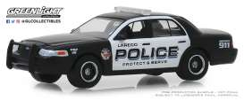 Ford  - Crown Victoria 2010 black/white - 1:64 - GreenLight - 42890E - gl42890E | The Diecast Company