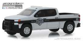 Chevrolet  - Silverado 2019 grey/white/black - 1:64 - GreenLight - 42890F - gl42890F | The Diecast Company